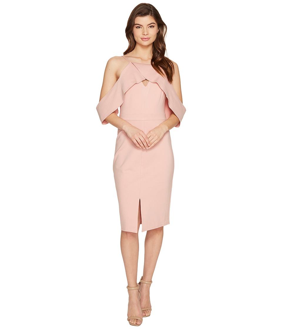 Adelyn Rae - Alessandra Knit Ponte Cold Shoulder Dress (Nude Pink) Women's Dress