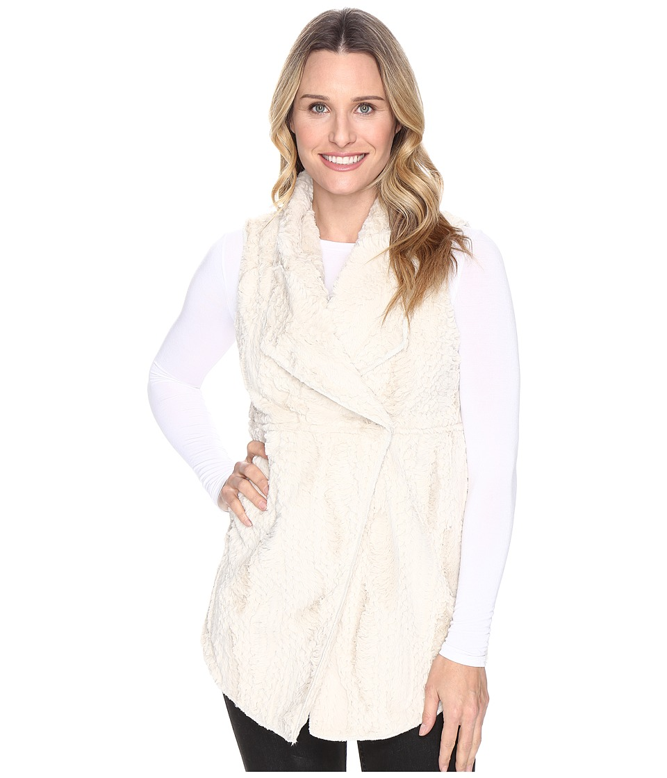 Dylan by True Grit - Silky Faux Fur Long Snap Vest (Chalk) Women's Vest