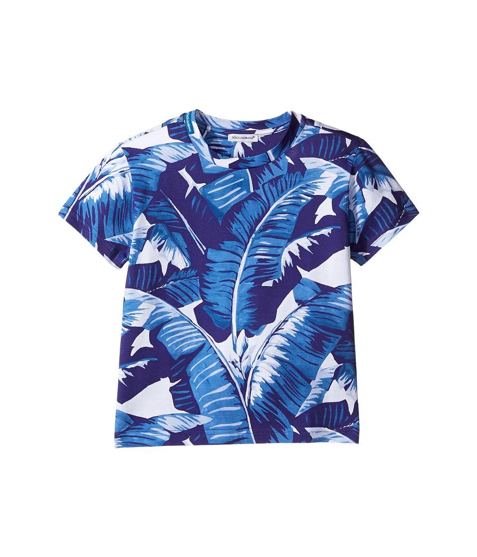 Dolce & Gabbana Kids - Mare Banana Leaf T-Shirt (Toddler/Little Kids) (Blue) Boy's T Shirt