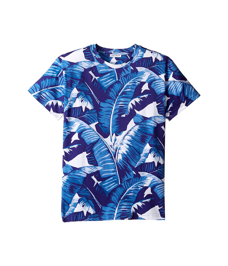 Dolce & Gabbana Kids - Mare Banana Leaf T-Shirt (Big Kids) (Blue) Boy's T Shirt