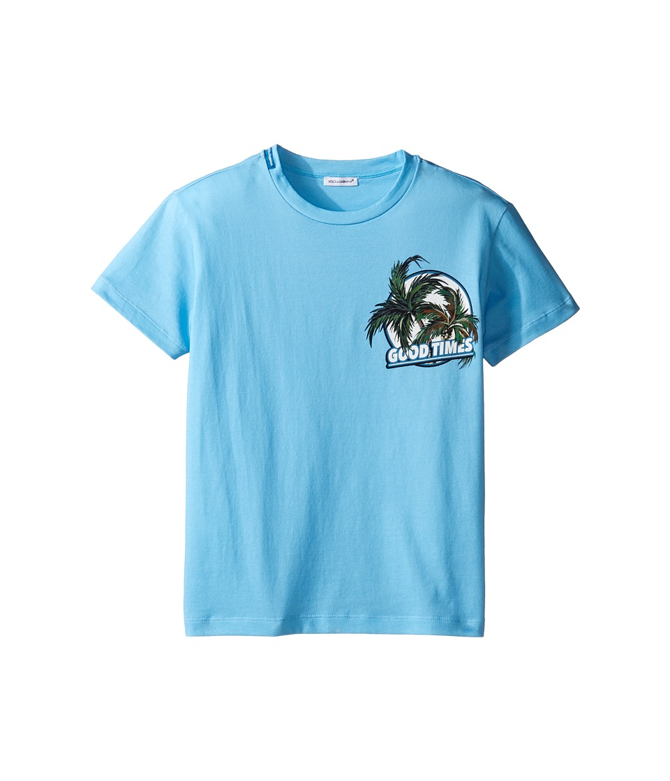 Dolce & Gabbana Kids - Mare Good Times T-Shirt (Big Kids) (Blue) Boy's T Shirt