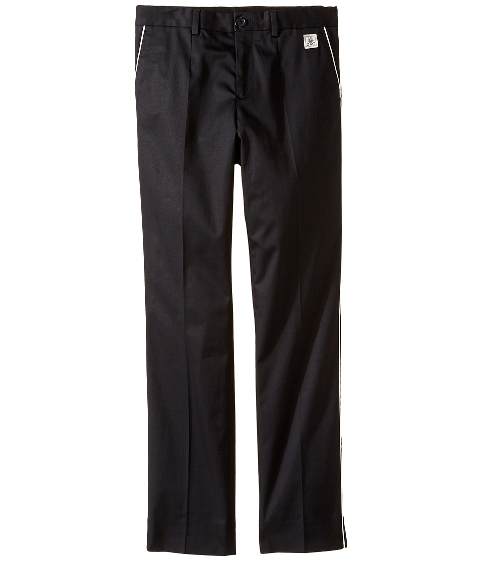 Dolce & Gabbana Kids - Cotton Stretch Pants (Big Kids) (Black) Boy's Casual Pants