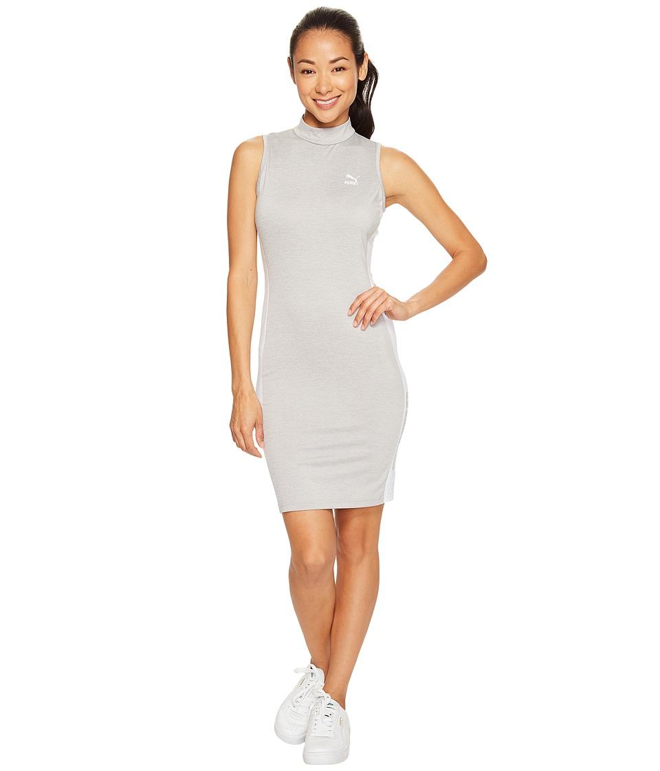 PUMA - T7 Dress (Light Gray Heather) Women's Dress