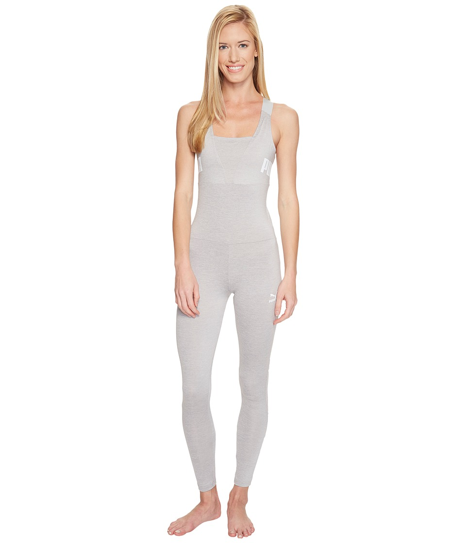 PUMA - Archive Logo Jumpsuit (Light Gray Heather) Women's Jumpsuit & Rompers One Piece