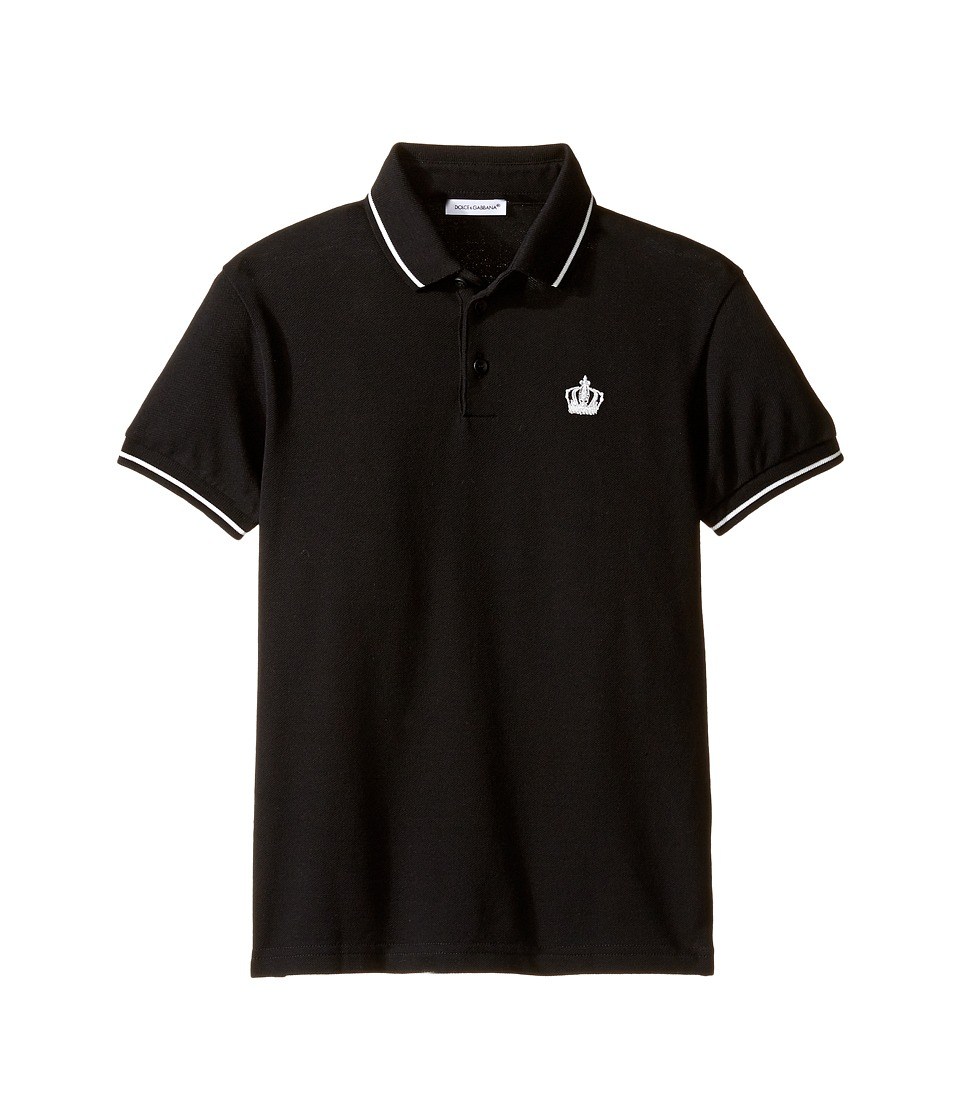 Dolce & Gabbana Kids - Basic Crown Polo (Toddler/Little Kids) (Black) Boy's Clothing