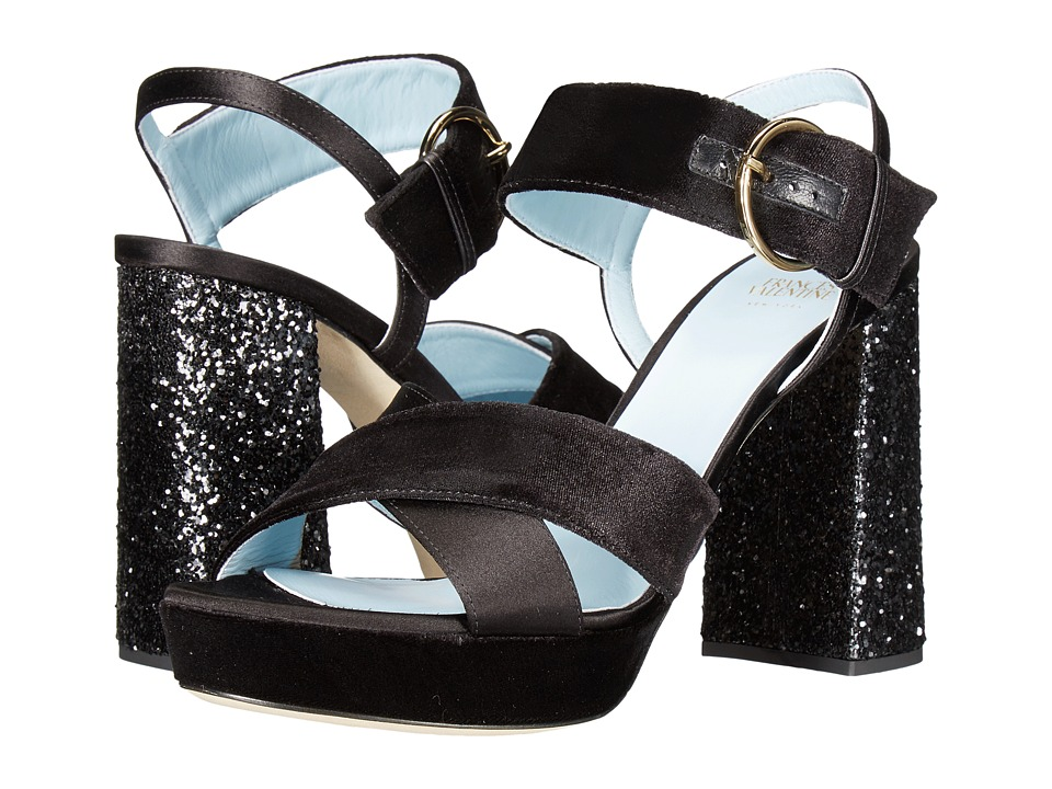 Frances Valentine - Dizzie (Black Velvet) Women's Shoes