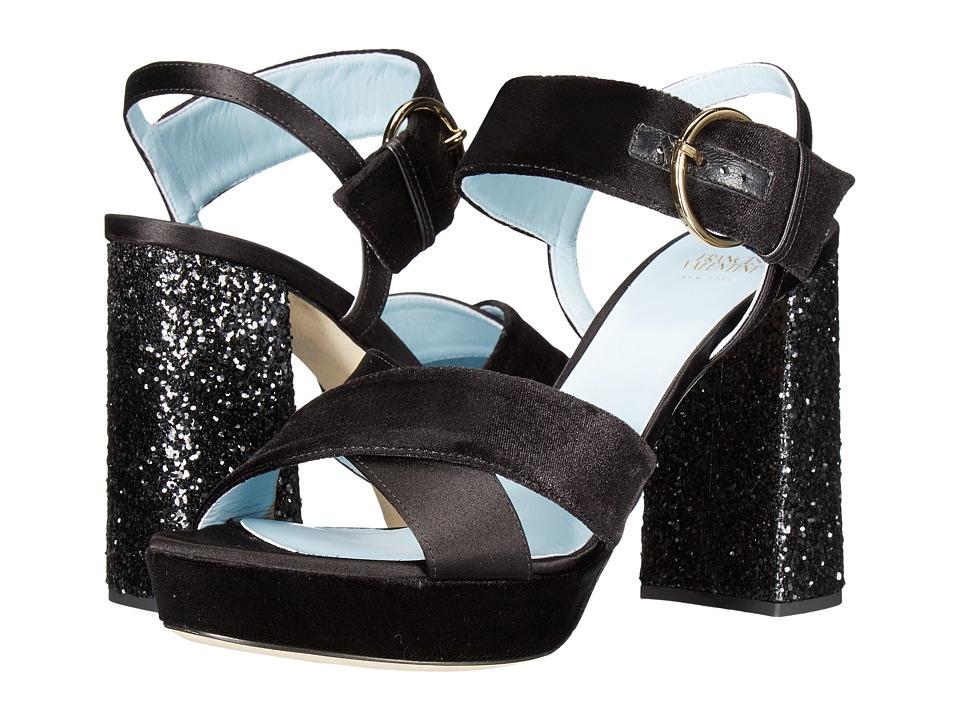Frances Valentine - Dizzie (Black Velvet) Women's Shoes