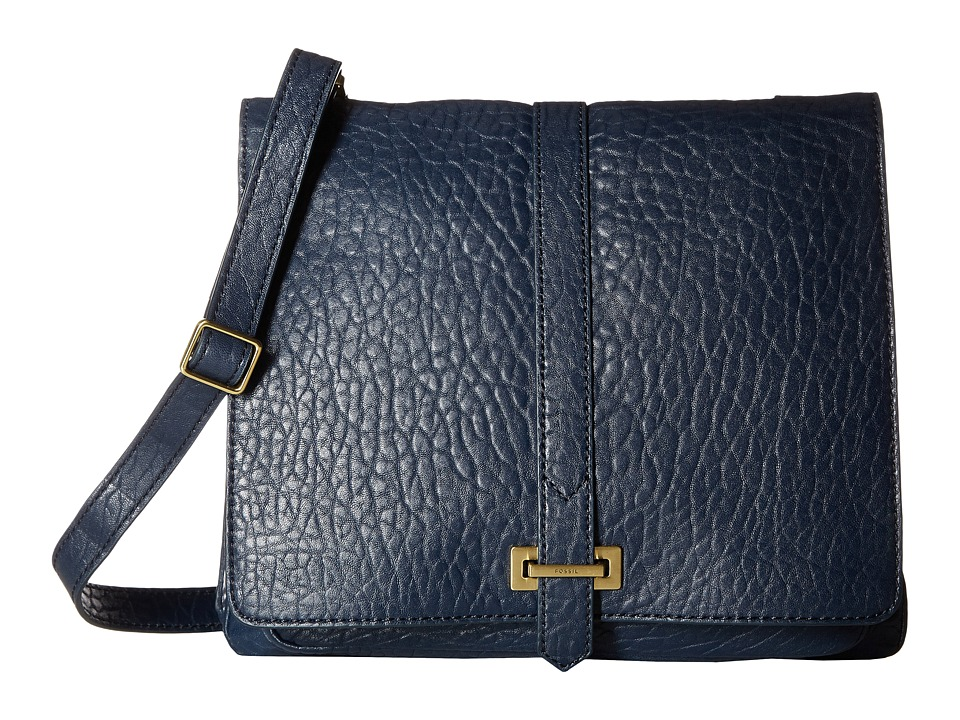 Fossil - Maddie Large Crossbody (Navy) Cross Body Handbags