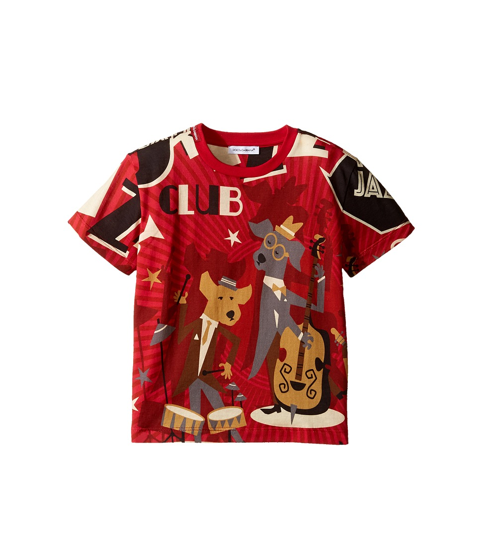 Dolce & Gabbana Kids - Mambo Club T-Shirt (Toddler/Little Kids) (Red) Boy's T Shirt
