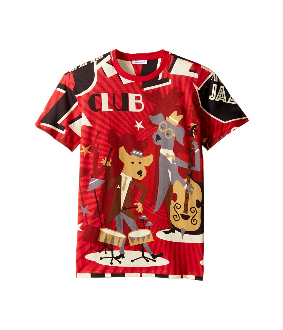 Dolce & Gabbana Kids - Mambo Club T-Shirt (Big Kids) (Red) Boy's T Shirt