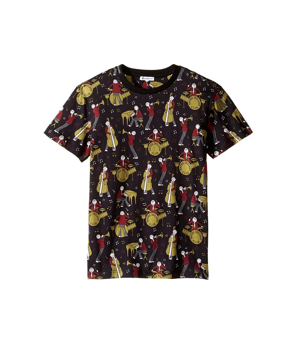 Dolce & Gabbana Kids - Mambo Band T-Shirt (Big Kids) (Black) Boy's T Shirt
