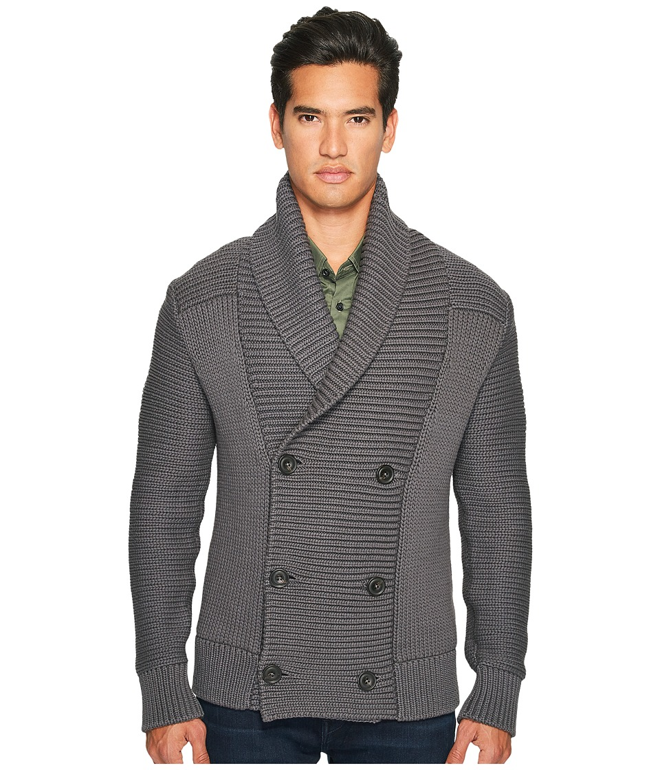 Vince - Solid Double-Breasted Cardigan Coat (Sulphur) Men's Sweater