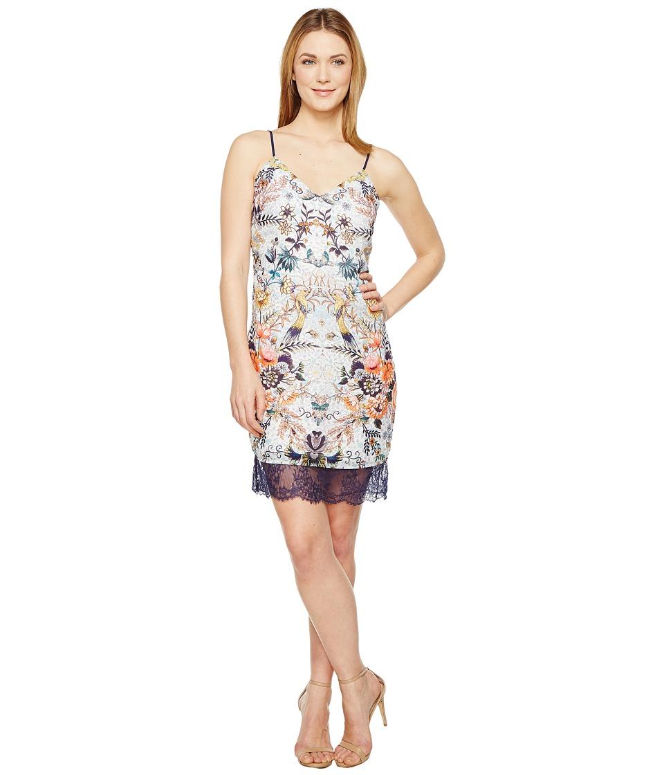 Adelyn Rae - Lydia Woven Printed Slip Dress (White Multi) Women's Dress