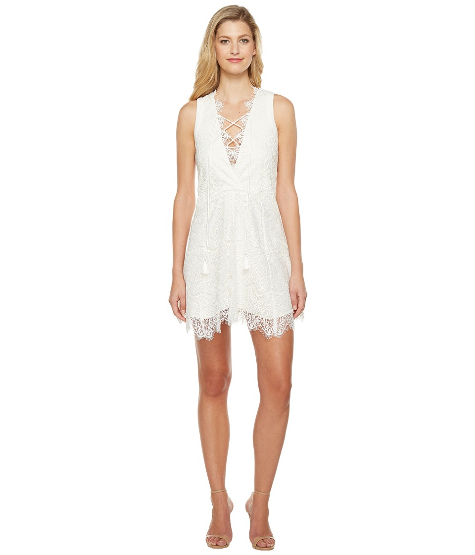 Adelyn Rae - Suzanne Woven Lace Shift Dress (White) Women's Dress