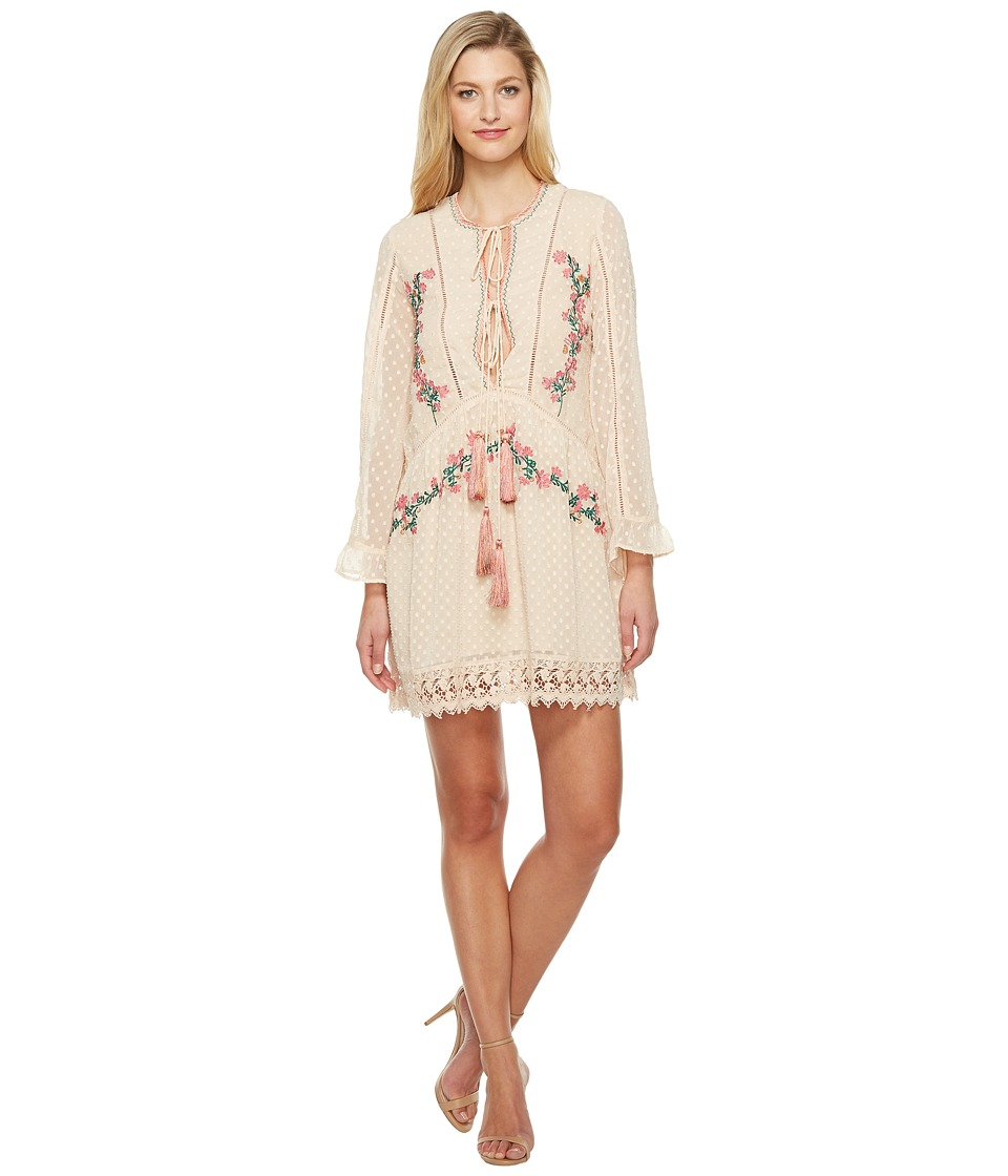 Adelyn Rae - Sylvana Woven Embroidered Dress (Blush) Women's Dress