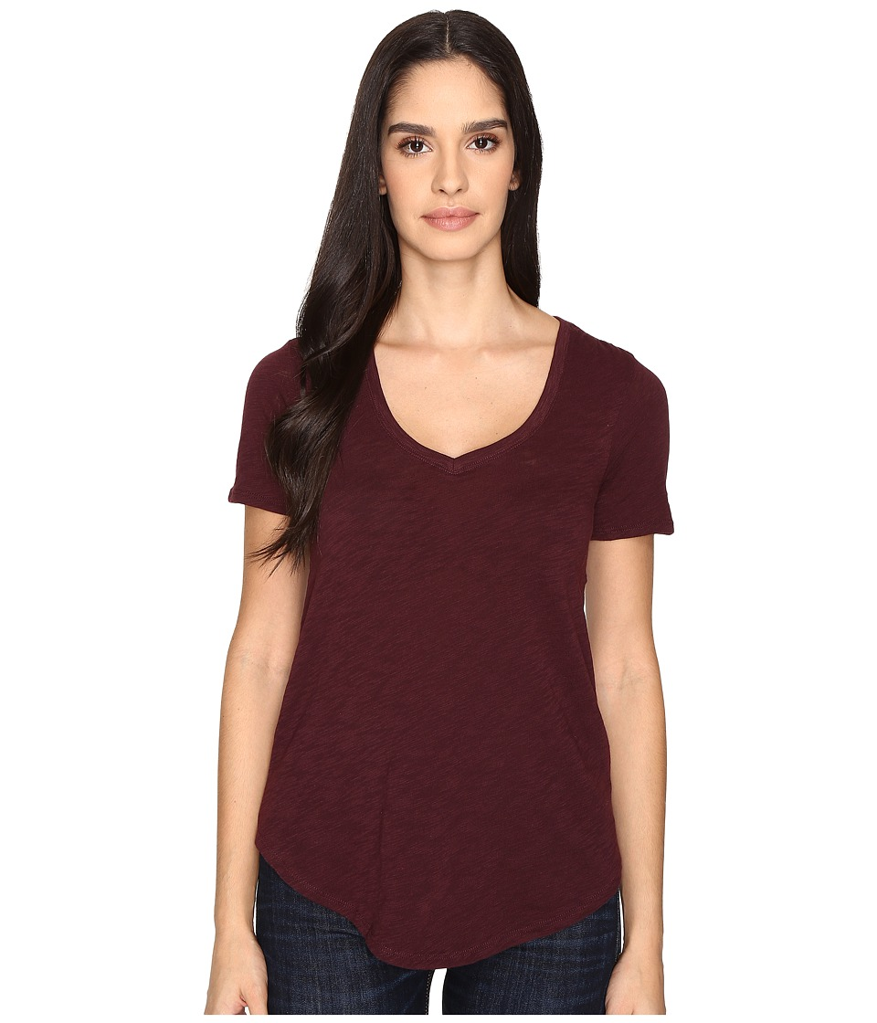 ATM Anthony Thomas Melillo - Slub Jersey V-Neck (Malbec) Women's T Shirt