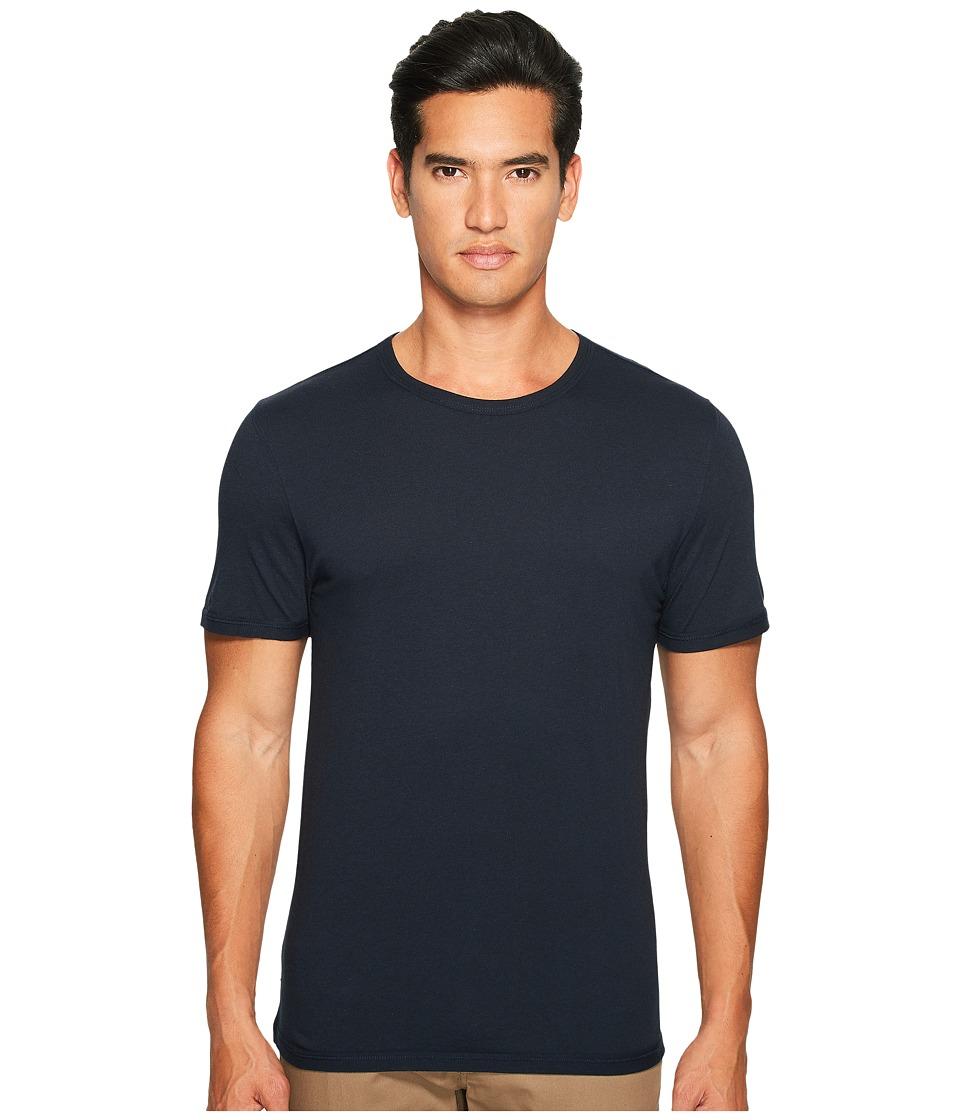 Vince - Reverse Hem Cotton-Modal Short Sleeve Crew (Coastal) Men's T Shirt