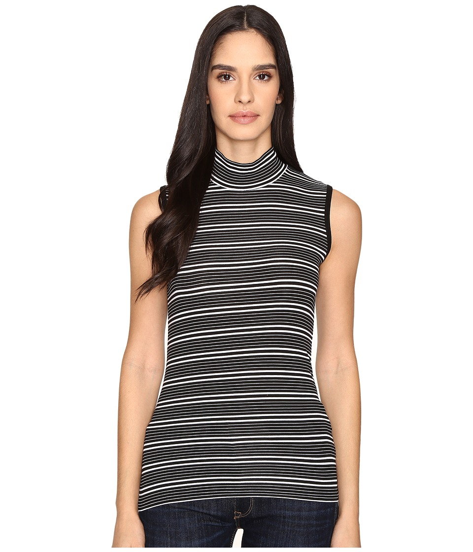 ATM Anthony Thomas Melillo - Engineered Stripe Sleeveless Mock Neck (Black/White Stripe) Women's Sleeveless