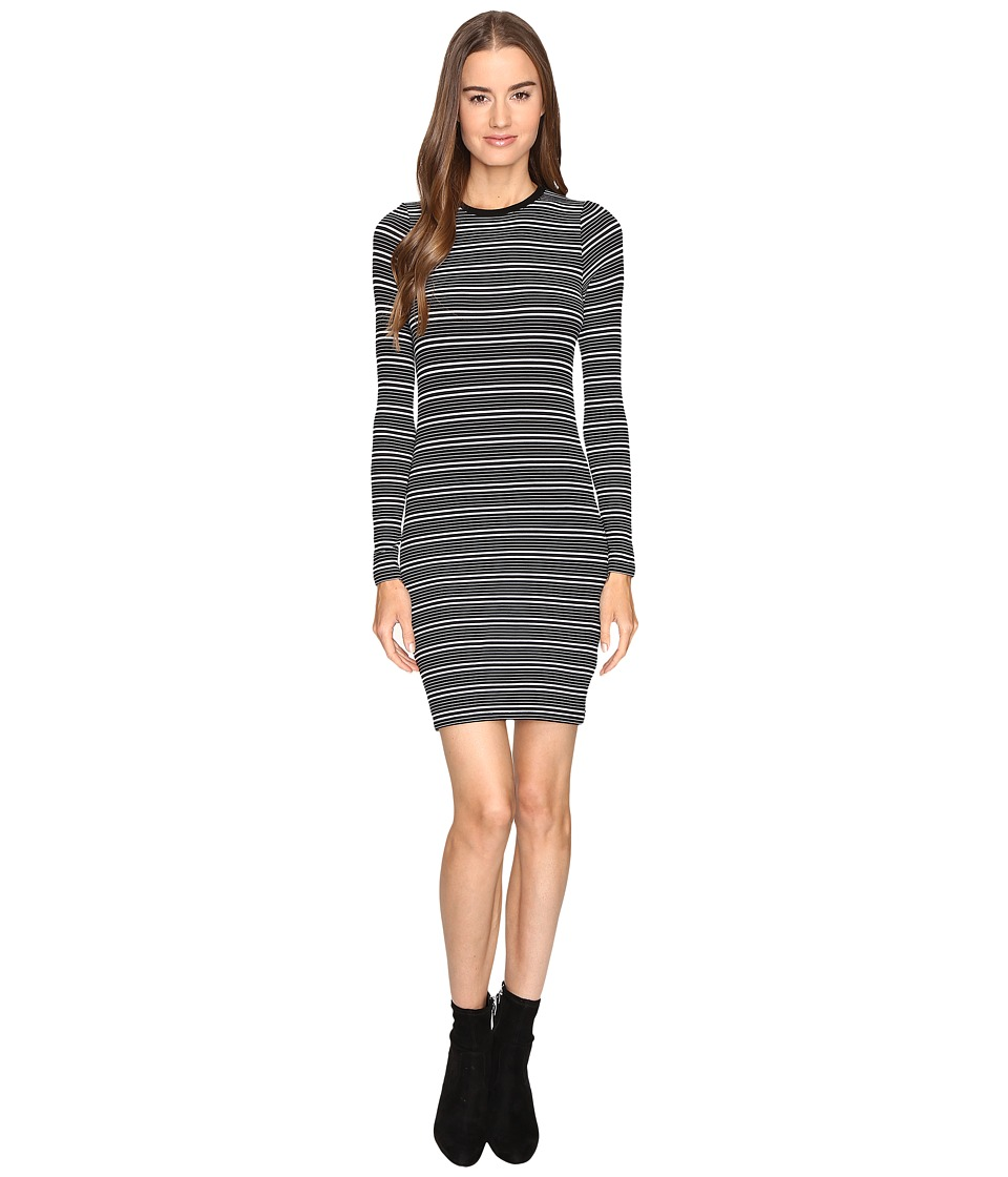 ATM Anthony Thomas Melillo Engineered Stripe Dress (Black/White Stripe) Women