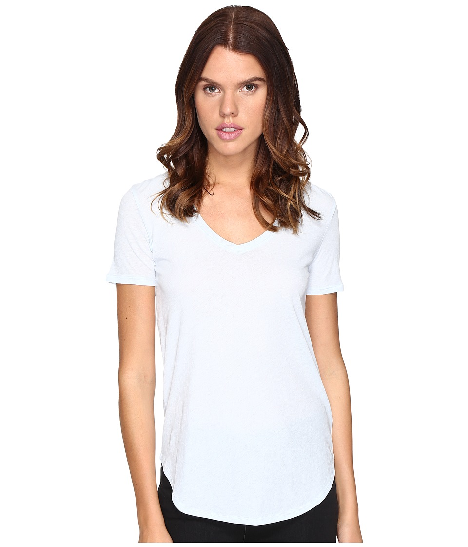 ATM Anthony Thomas Melillo - Slub Jersey V-Neck (Pale Blue) Women's T Shirt