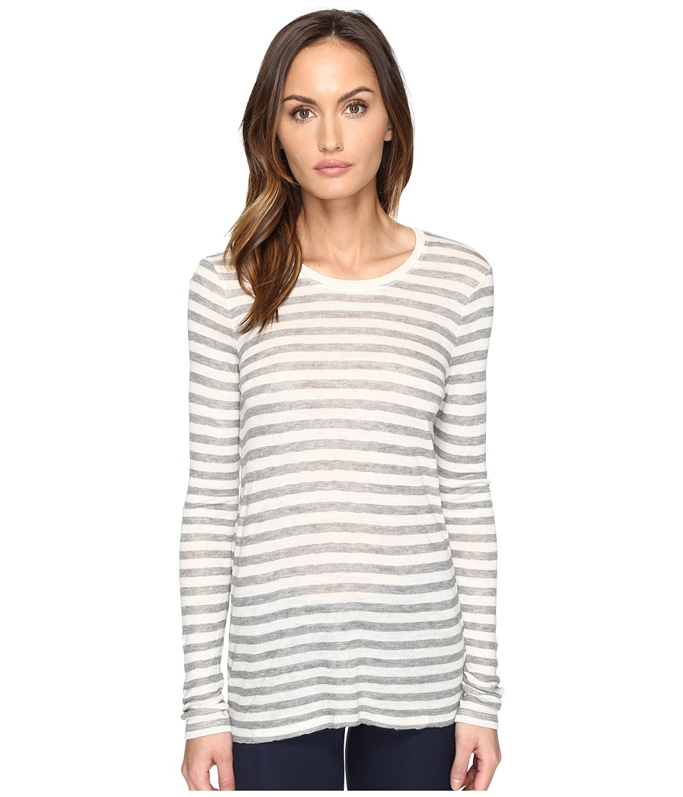 ATM Anthony Thomas Melillo - Long Sleeve Viscose Jersey Crew (Oatmeal/Grey) Women's Long Sleeve Pullover