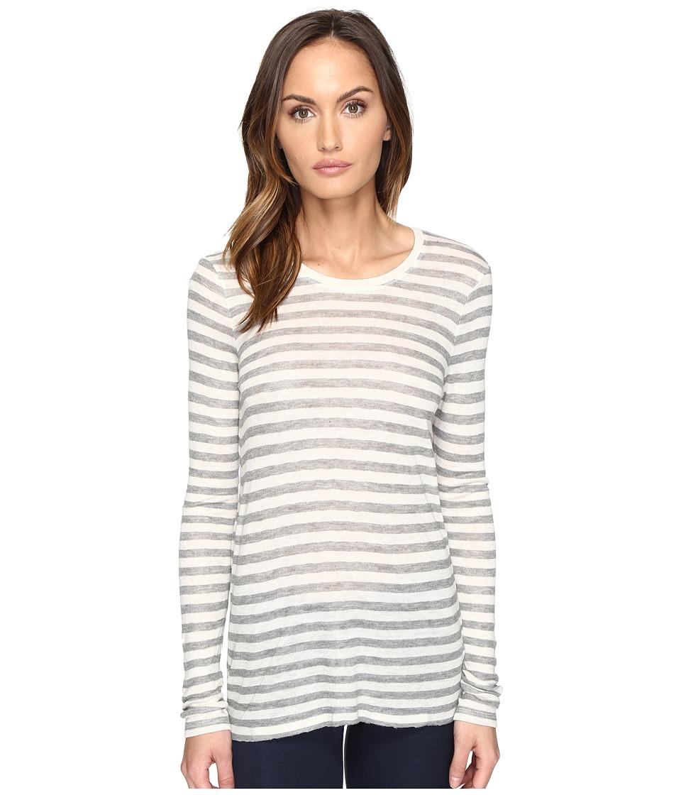 ATM Anthony Thomas Melillo - Long Sleeve Viscose Jersey Crew (Oatmeal/Grey) Women's Long Sleeve Pullover