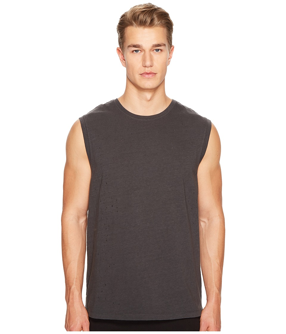Vince - Distressed Tank Top (Stormy Sulphur) Men's Sleeveless