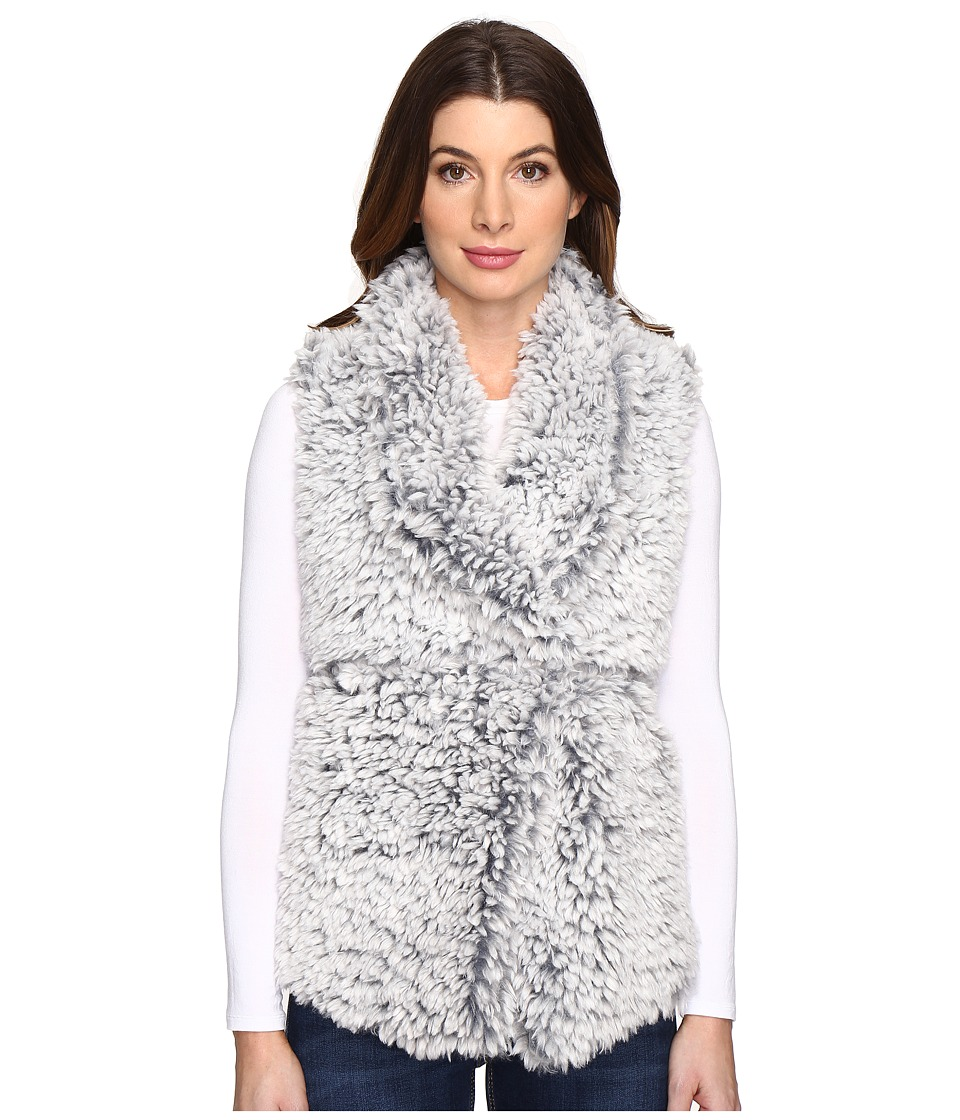 Dylan by True Grit - Soft Spot Fuzzy Double Layer Maddy Vest (Faded Denim) Women's Vest