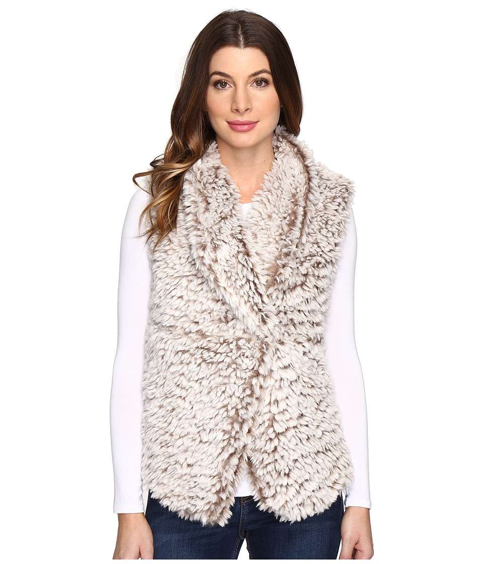 Dylan by True Grit - Soft Spot Fuzzy Double Layer Maddy Vest (Soft Brown) Women's Vest