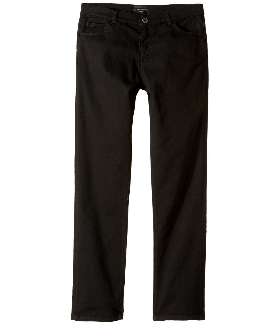 Dolce & Gabbana Kids - Stretch Jeans (Big Kids) (Black) Boy's Jeans