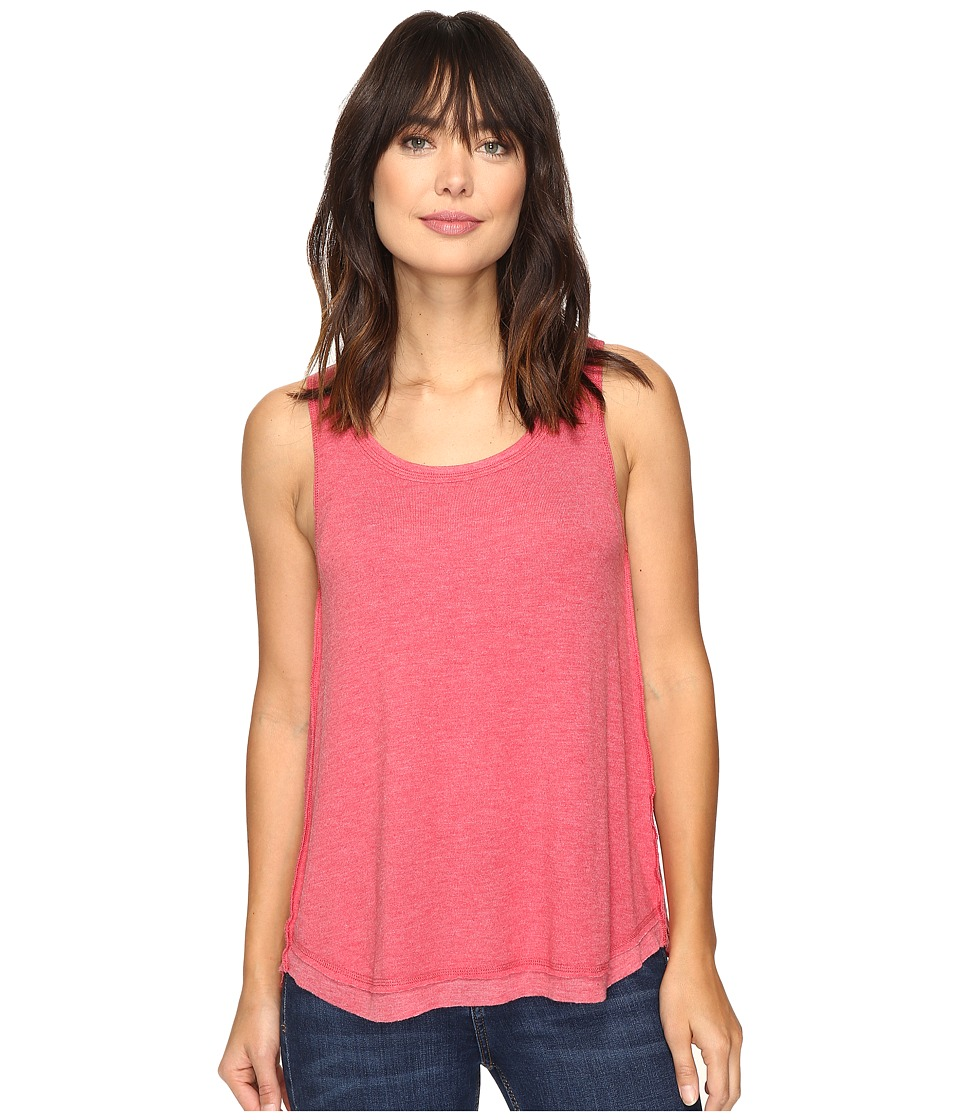 Dylan by True Grit - Glam Softest Fleece High-Low Tank Top (Holly Red) Women's Sleeveless