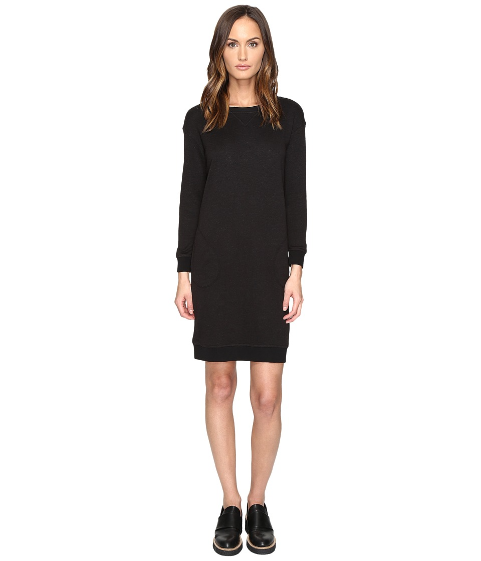 ATM Anthony Thomas Melillo - Sweatshirt Dress (Black) Women's Dress