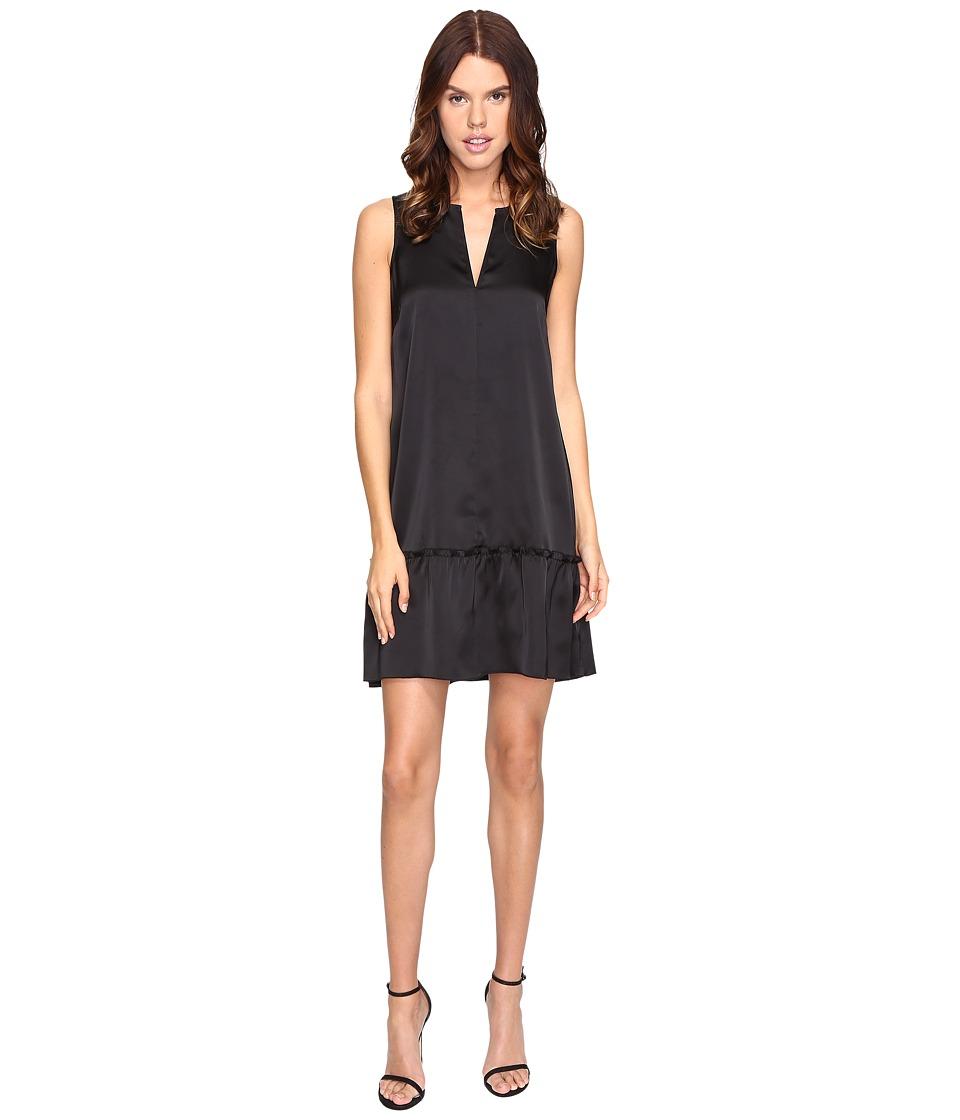 ATM Anthony Thomas Melillo - Sleeveless Dress with Ruffled Bottom (Black) Women's Dress