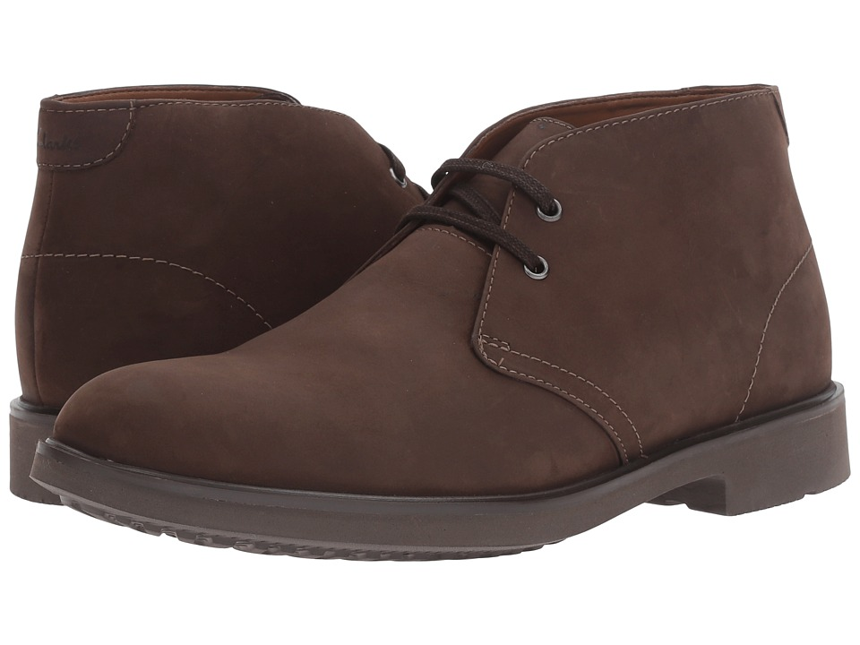Clarks Riston Style (Brown Leather) Men