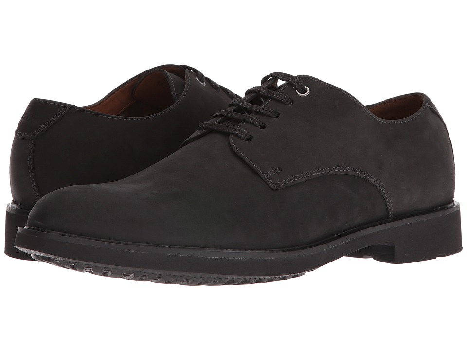 Clarks Riston Plain (Black Leather) Men