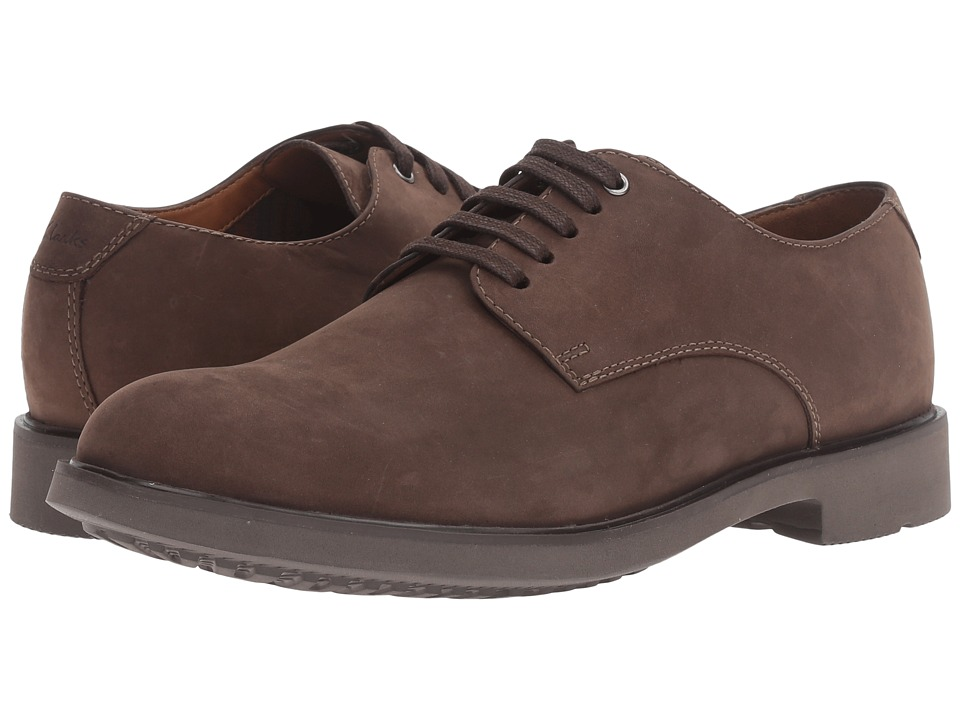 Clarks Riston Plain (Brown Leather) Men