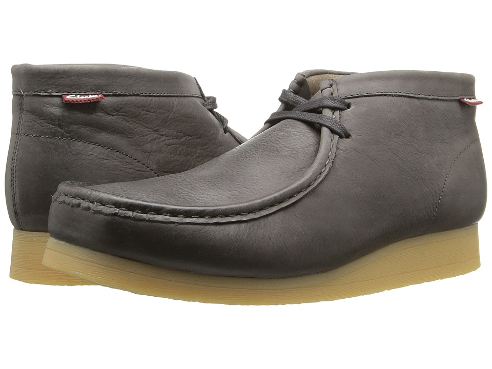 Clarks Stinson Hi Grey Leather Mens Shoes