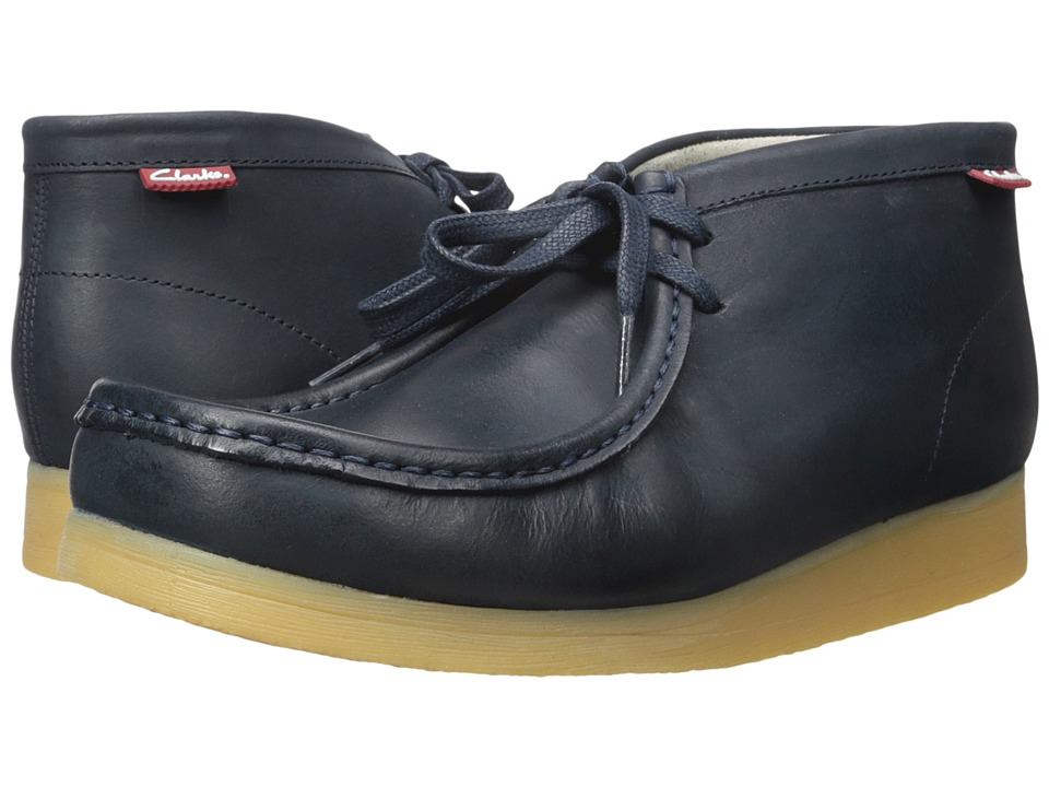 Clarks - Stinson Hi (Navy Leather) Men's Shoes