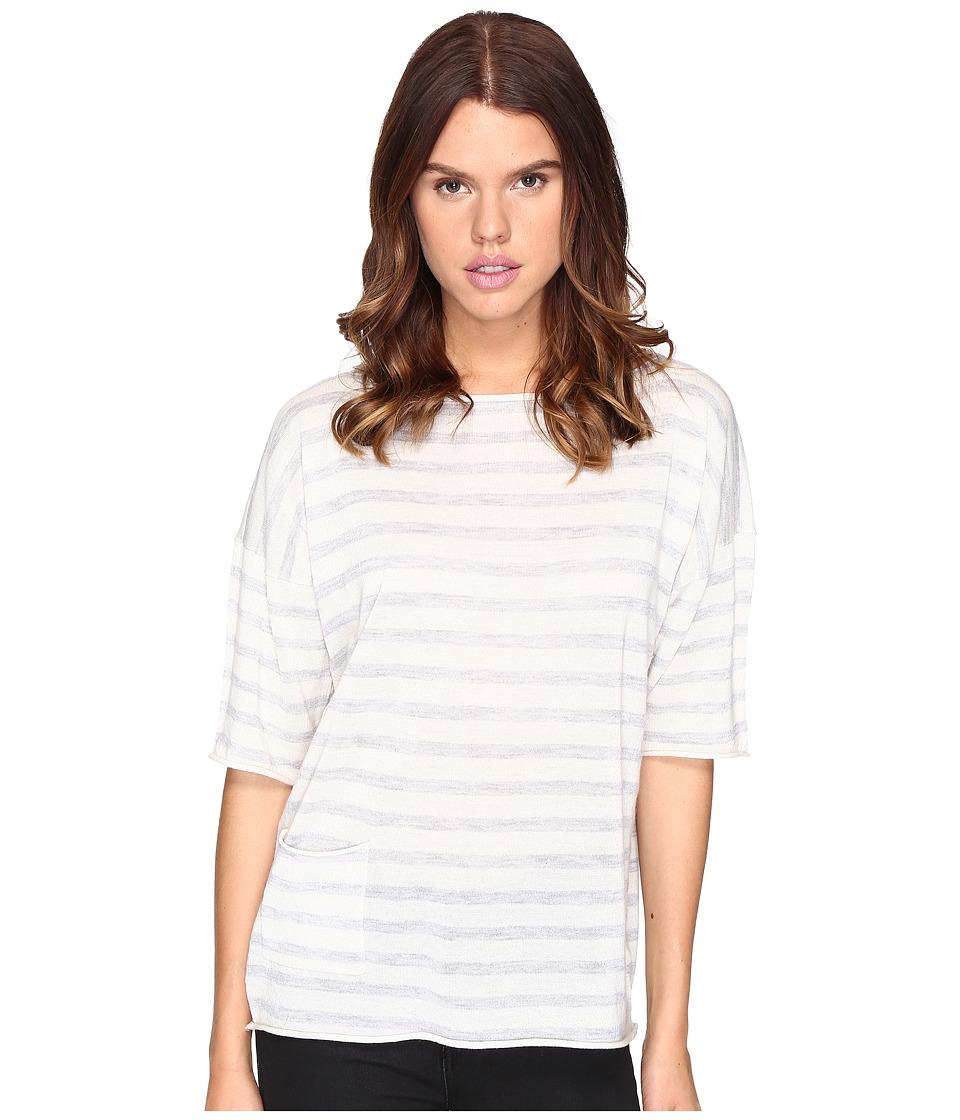 ATM Anthony Thomas Melillo - Oversized Sweater with Side Pocket (Heather Grey/Snow) Women's Sweater