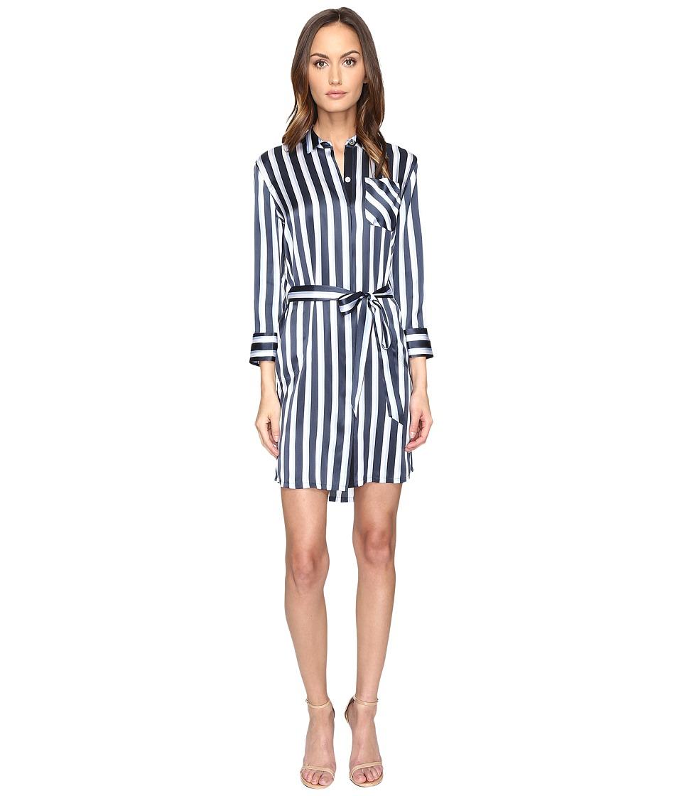ATM Anthony Thomas Melillo - Striped Shirtdress (Midnight/Blue/White) Women's Dress