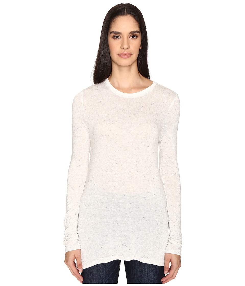 ATM Anthony Thomas Melillo - Long Sleeve Viscose Jersey Crew (Snow Combo) Women's Long Sleeve Pullover