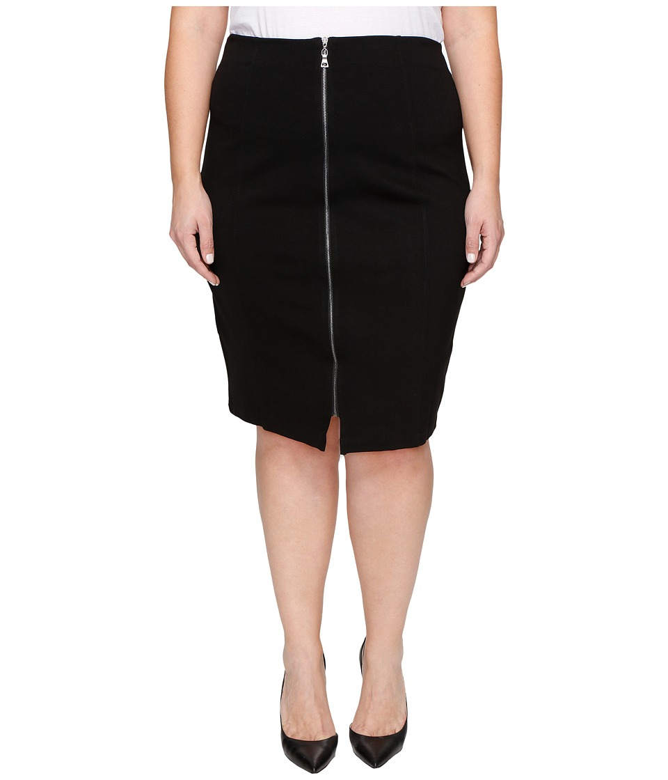 B Collection by Bobeau Curvy - Plus Size Brigid Ponte Skirt (Black) Women's Skirt