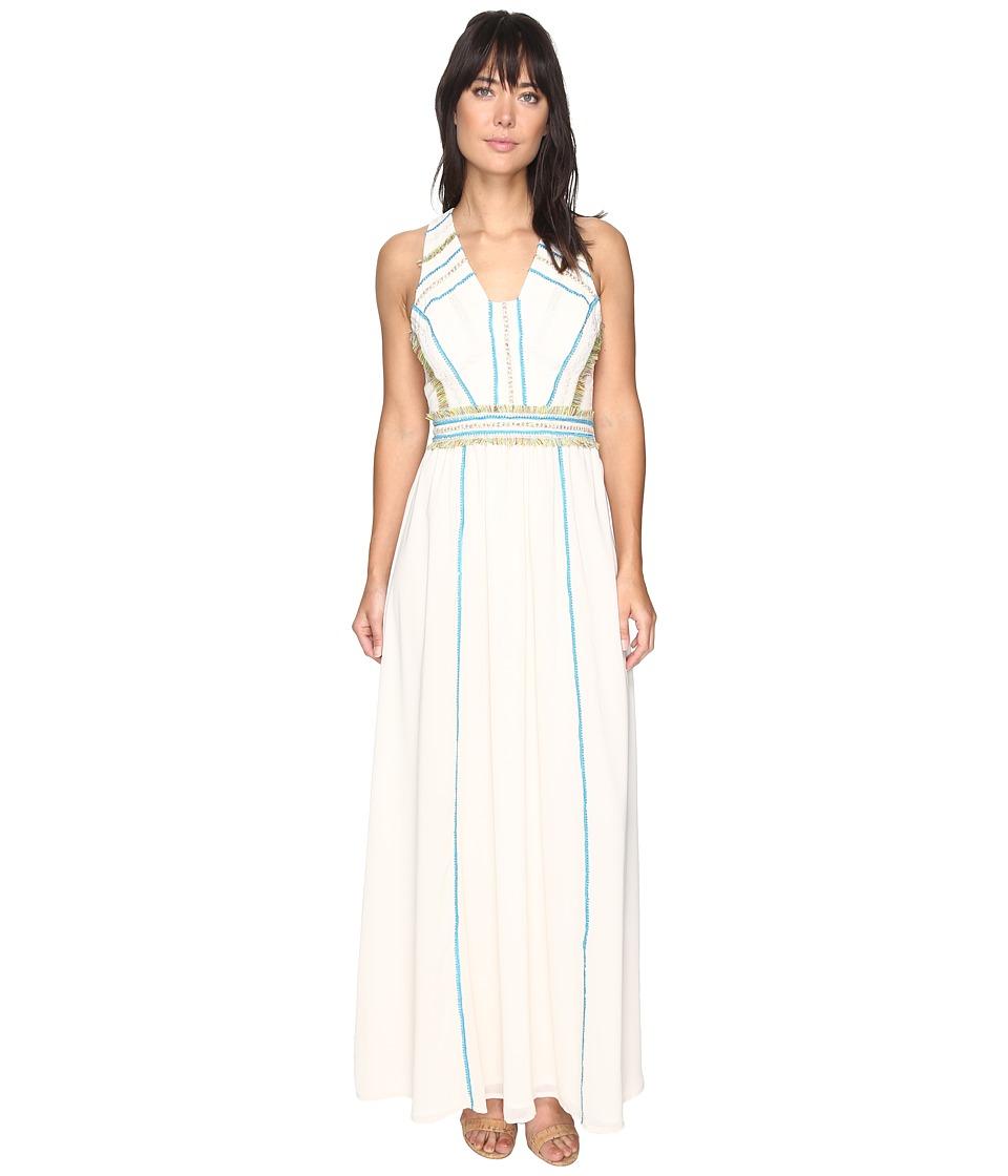Adelyn Rae - Mena Woven Maxi Dress (Ecru) Women's Dress