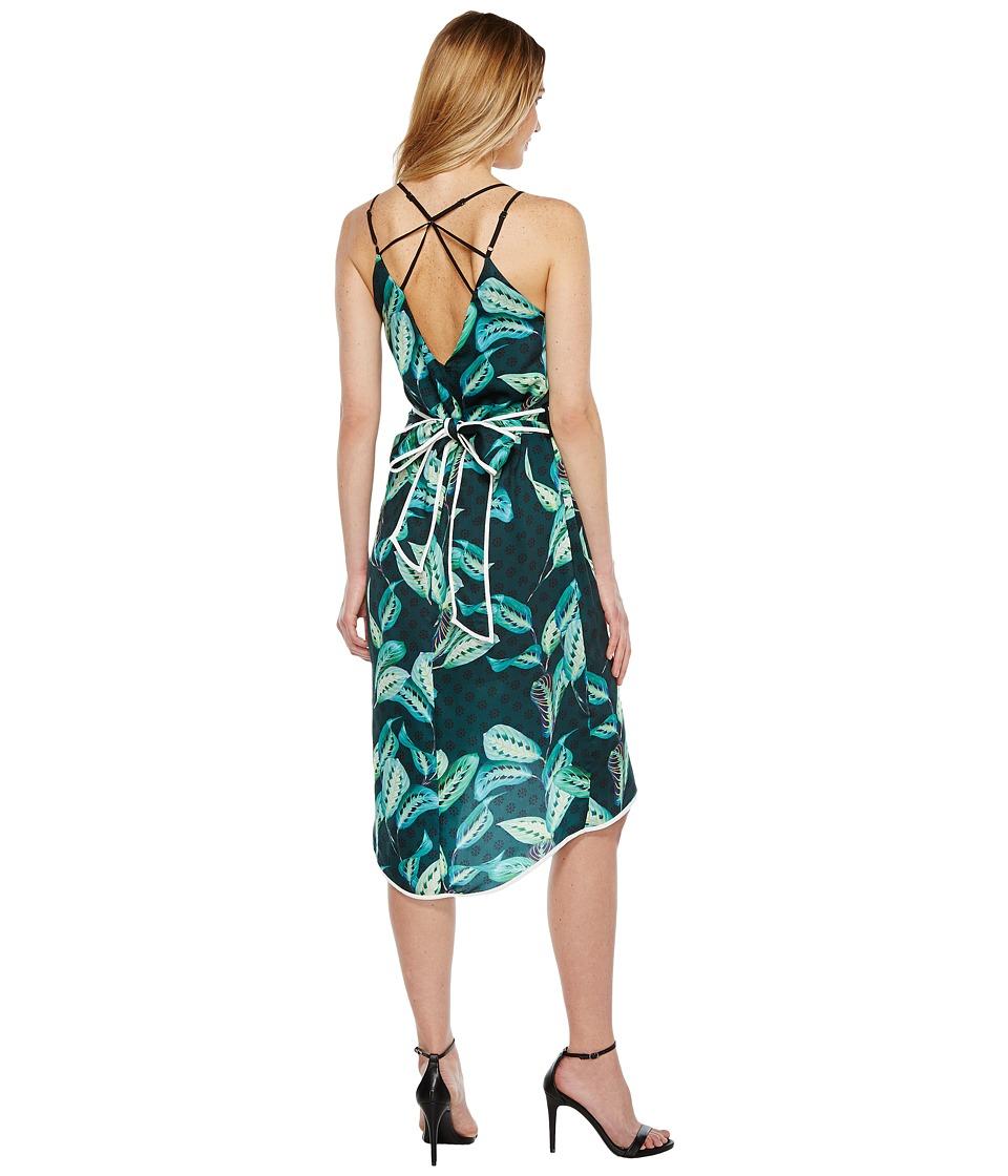 Adelyn Rae - Havana Woven Printed Slip Dress (Green) Women's Dress