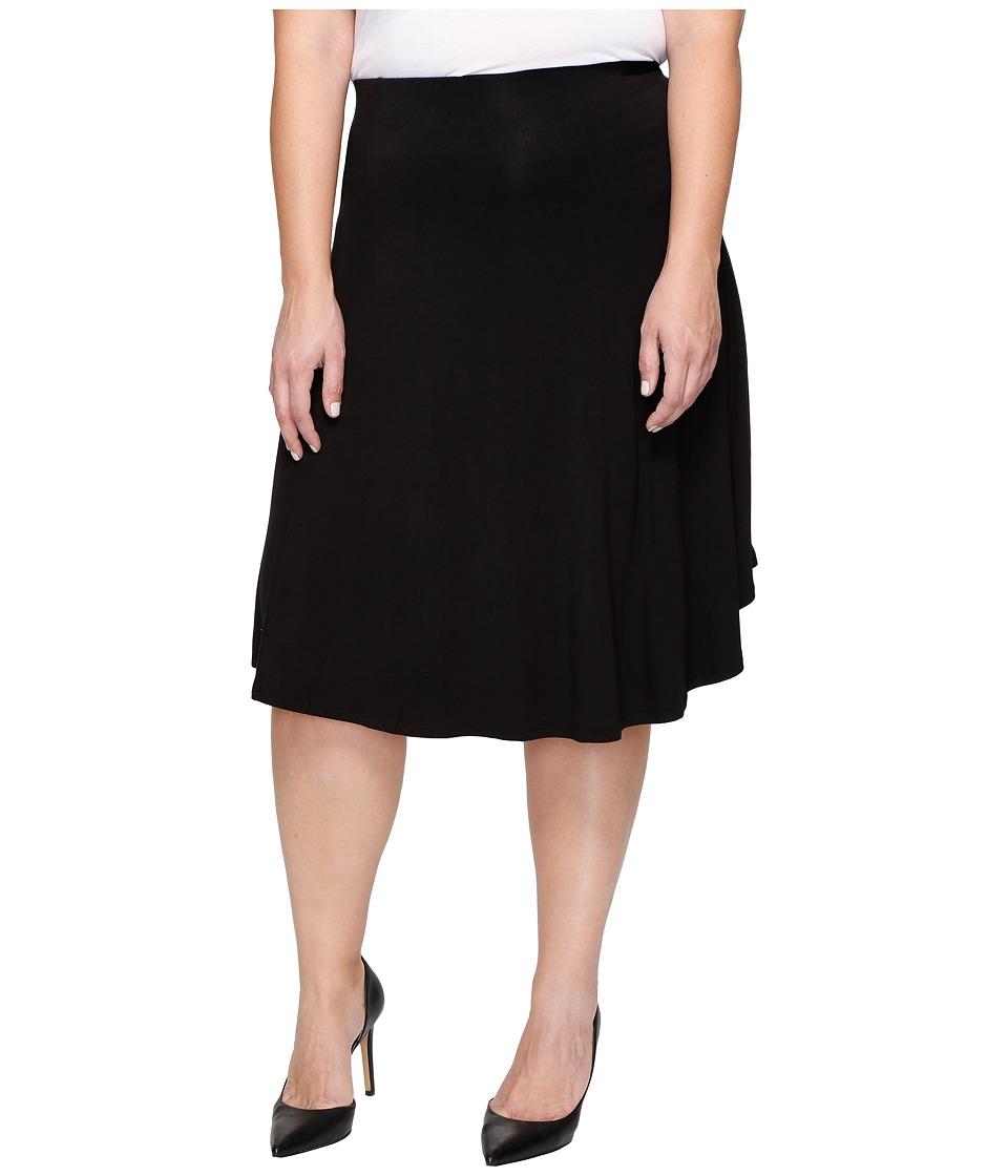B Collection by Bobeau Curvy - Plus Size Mae Skirt (Black) Women's Skirt