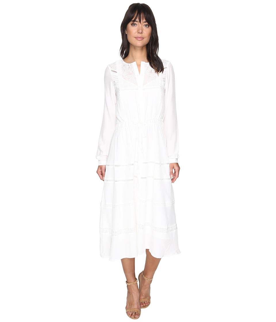 Adelyn Rae - Chelsea Woven Midi Dress (Off-White) Women's Dress