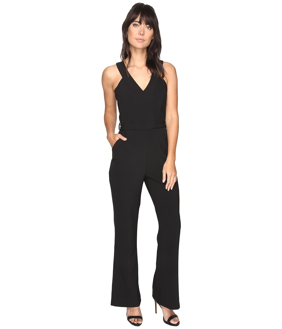 Adelyn Rae - Andrea Woven Jumpsuit (Black) Women's Jumpsuit & Rompers One Piece