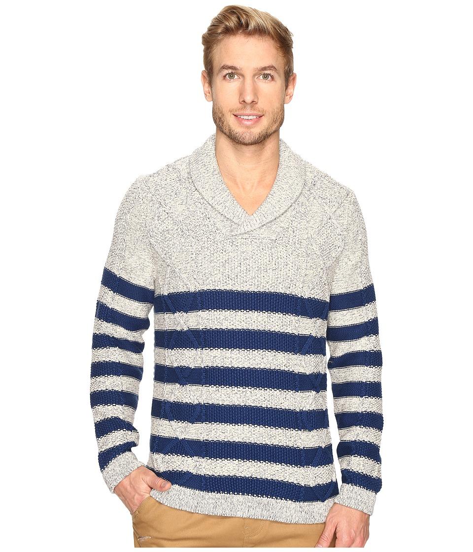 Nautica - 3 Gauge Shawl Pullover (Marshmallow) Men's Sweater