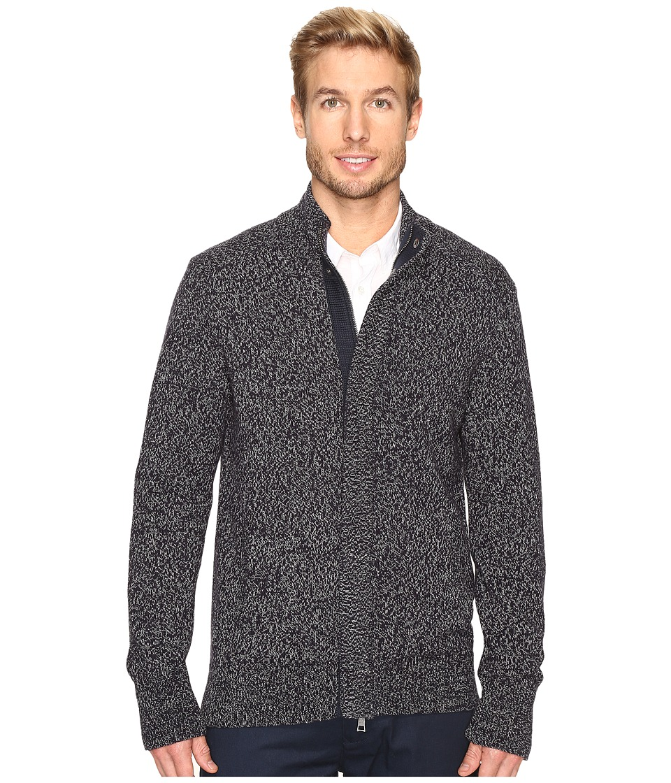 Nautica - 5 Gauge Fleece Sweater (True Navy) Men's Sweater