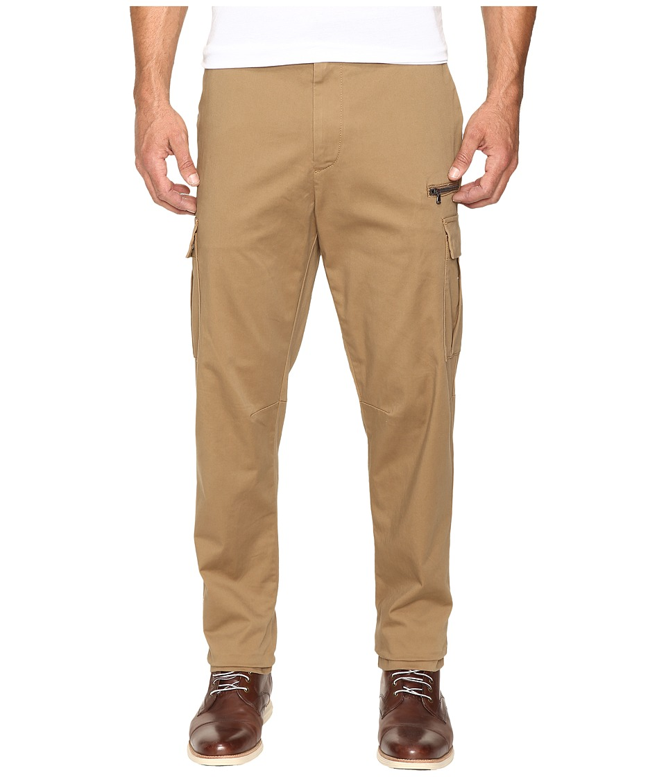 Nautica Sateen Cargo Pants (Oyster Brown) Men